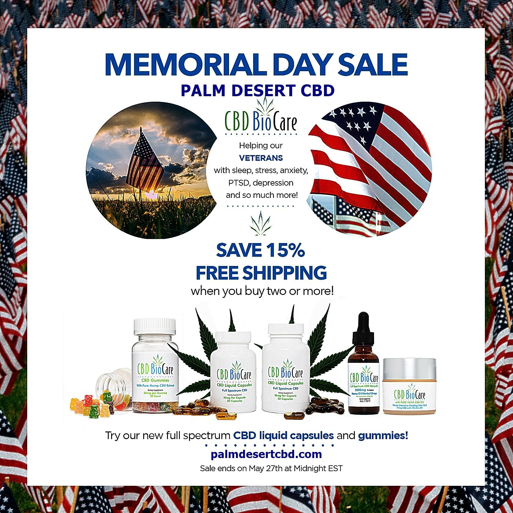 2019 memorial day sale cbd biocare