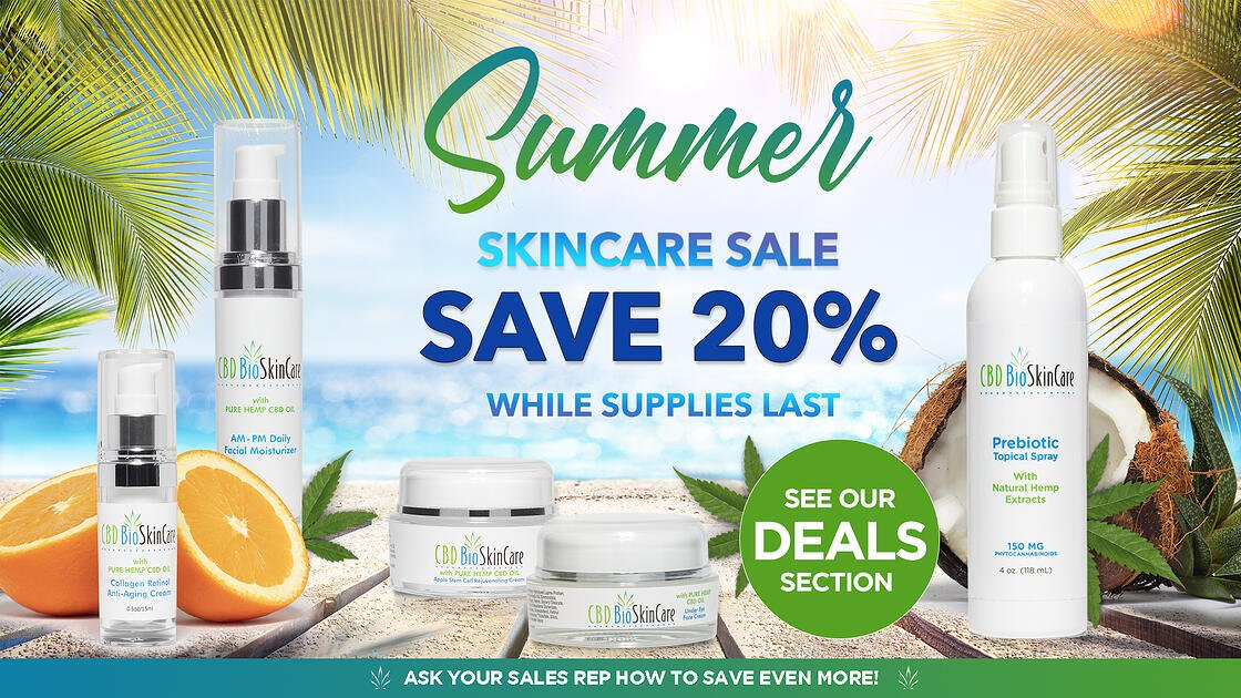PALM DESERT CBD SUMMER SKINCARE SALE